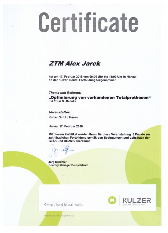 Certificate Jarek